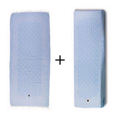 Ibicover-combiset-blauw-beachcover-hamamdoek-bandana